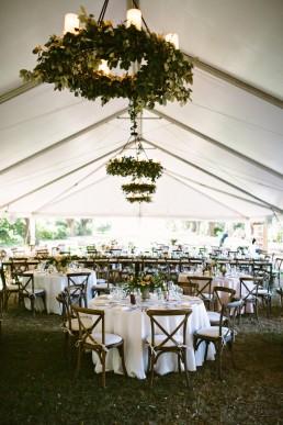 wedding floral chandeliers
