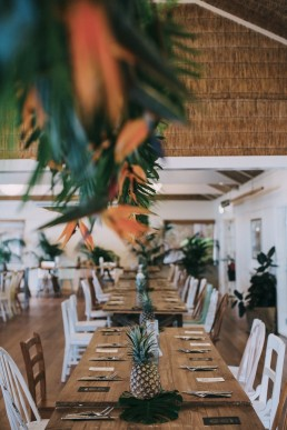 hanging wedding reception flowers