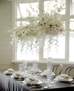 large white wedding centrepieces