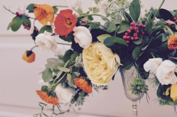 garden flowers wedding centrepiece