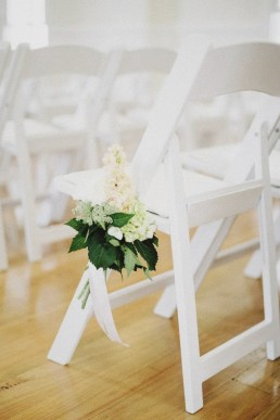 wedding chair flower posy