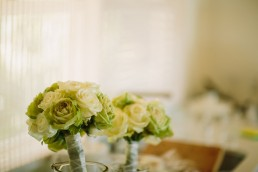 white and green bridal bouquets