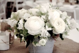 ranunculus table centrepiece